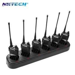 NKTECH uniwersalna szybka sześcioma ładowarka 6-Slot ładowarki dla BaoFeng Pofung UV-82 UV-82L UV-82HP UV-8D UV82X LT-9000 Walkie Talkie