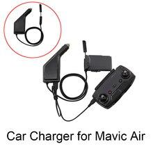 DJI Mavic Air Car Charger Portable Travel 12V Vehicle Charger for DJI Mavic Air Drone Battery Remote Control Transport Charger