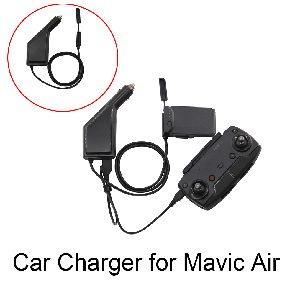 DJI Mavic Air Car Charger Portable Travel Charger for DJI Mavic Air Drone Battery Remote Control 12V Vehicle Transport Charging сумка для квадрокоптера dji travel part15 для dji mavic air