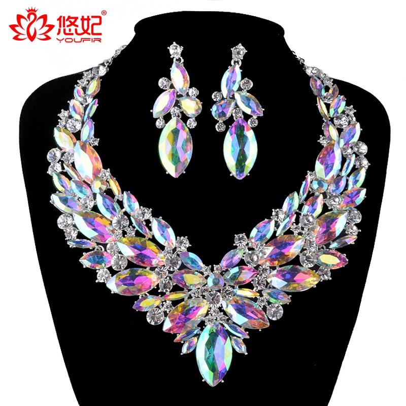 Gorgeous Bridal Jewelry жиынтығы AB түсті маркиз - Сәндік зергерлік бұйымдар - фото 2