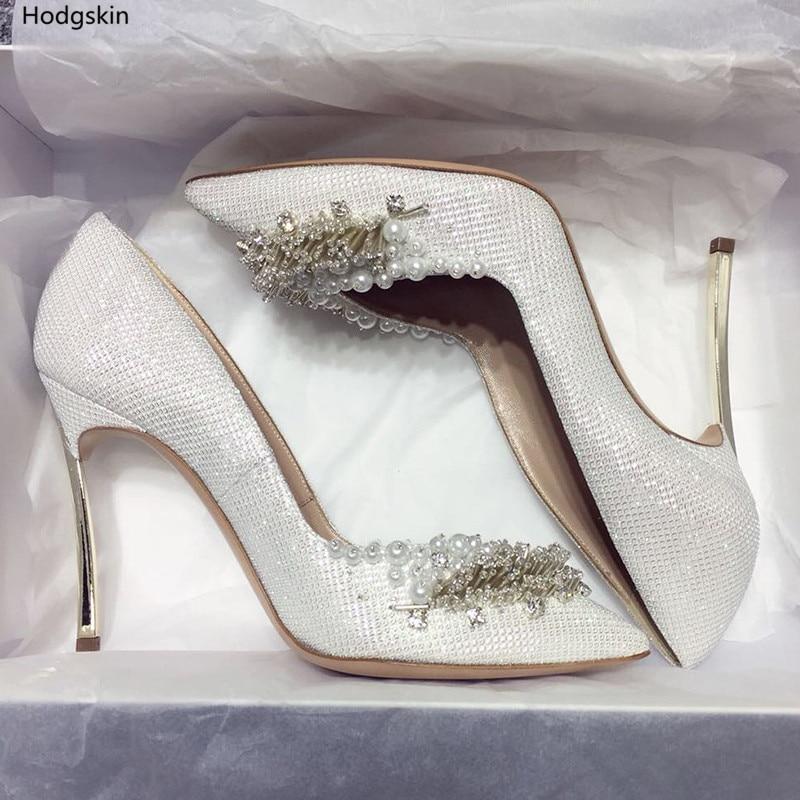 Zapatos Puntiagudos Dedo As as Bling Feminino Pic Hechos 2018 Mujeres Estilete Sequined Pic Sapato Las Caliente A Mano Abalorios Para Del Hoja Pie pgSq7awxOF