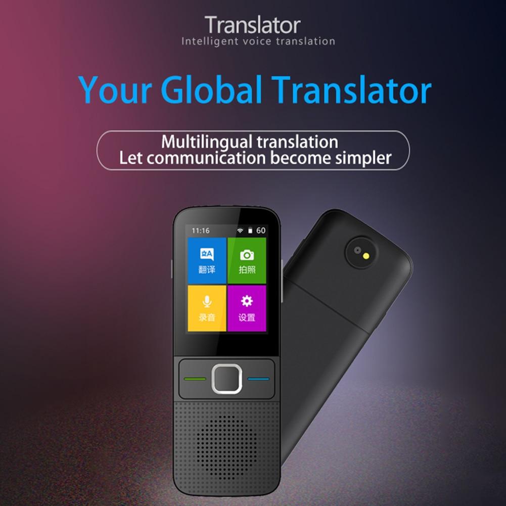 Apprentissage enregistrement voyage WIFI traducteur de langue Portable voix intelligente Photo en temps réel interpréter Communication réunion d'affaires