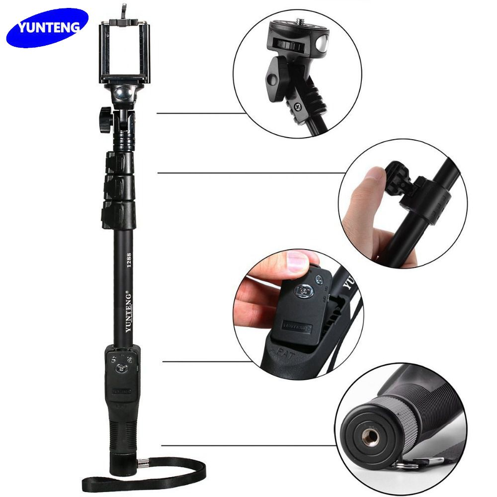 yunteng yt 1288 selfie stick bluetooth 50 handheld monopod with bluetoot. Black Bedroom Furniture Sets. Home Design Ideas
