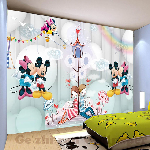 Custom 3D Mural Wallpaper children Room wall covering Wallpaper 3D Cartoon Lovely 3D kid Photo Wallpaper Home Decor