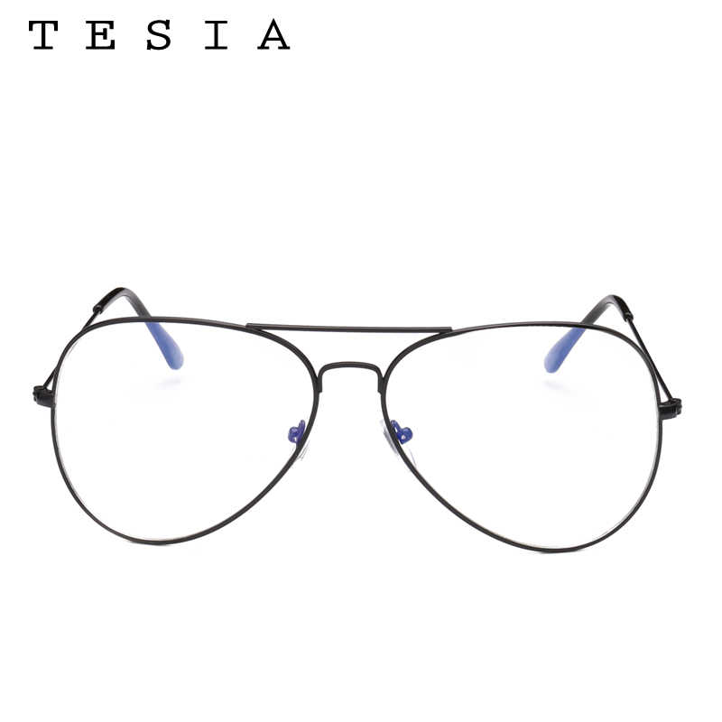 a90db401bb8c ... TESIA Unisex Vintage Glasses Women Oversized Clear Glasses Frame Female  Male Oculos De Grau In Aviation ...