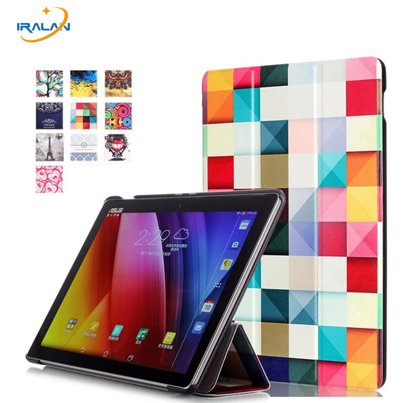 Pu Leather Tablet Smart Case For Asus ZenPad 3S 10 Z500M 9.7 inch MediaPad 3 Folding Stand Protective Cover+stylus+screen film asus zenpad 3s 10 z500m tablet pc