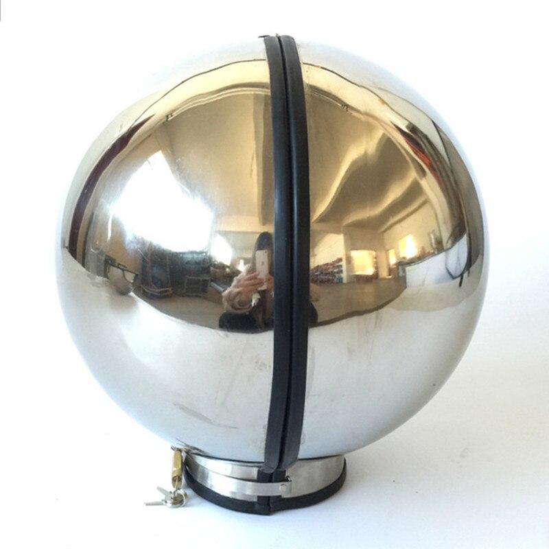 Dispositif de chasteté collier en métal en acier inoxydable capot masque couvre-chef Bondage esclaves restrictions jeux pour adultes Sex Toys pour femmes hommes Gay