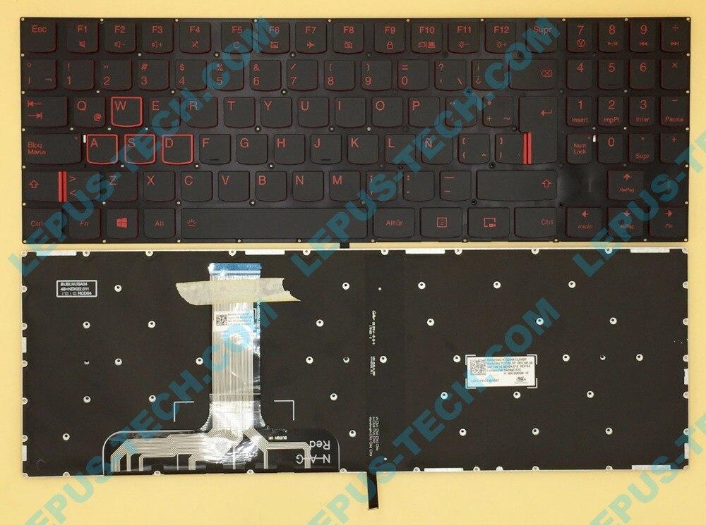 Original SP LA Latin keyboard for LENOVO Y520 Y520-15 R720-15 R720 Y720 Y720-15 keyboard with backlight red key