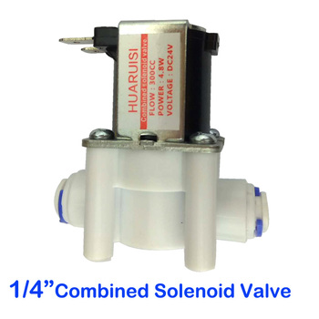 цена на 1PCS 14 Ro water machine quick assembly wastewater combination solenoid valve DC24V water purifier accessories manufacturers