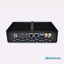 2016 celeron Wintel 3215U 1.7 Г двухъядерный мини настольный компьютер Dual lan Шесть Com micro pc Поддержка GPIO