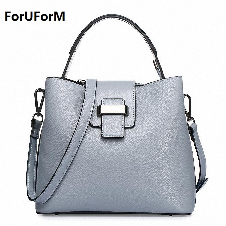 New arrival Designer genuine leather women Handbags High Quality first layer Leather bags for women Fashion shoulder bag LI-1659 2017 new arrival designer women leather handbags vintage saddle bag real genuine leather bag for women brand tote bag with rivet