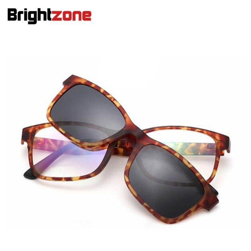 Imán Set Espejo gafas de Sol Polarizadas Clip Miopía Gafas de Marco de acero De Plástico Ultem Tungsteno puede Llenar de la Prescripción Óptica Lente