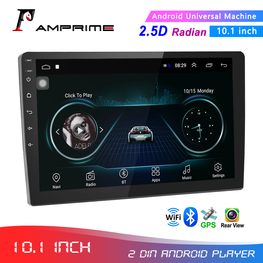 AMPrime 10.1 Android Car Multimedia Player GPS Autoradio Bluetooth WIFI Car stereo Radio MirrorLink 2Din Car Audio Radio Camera image