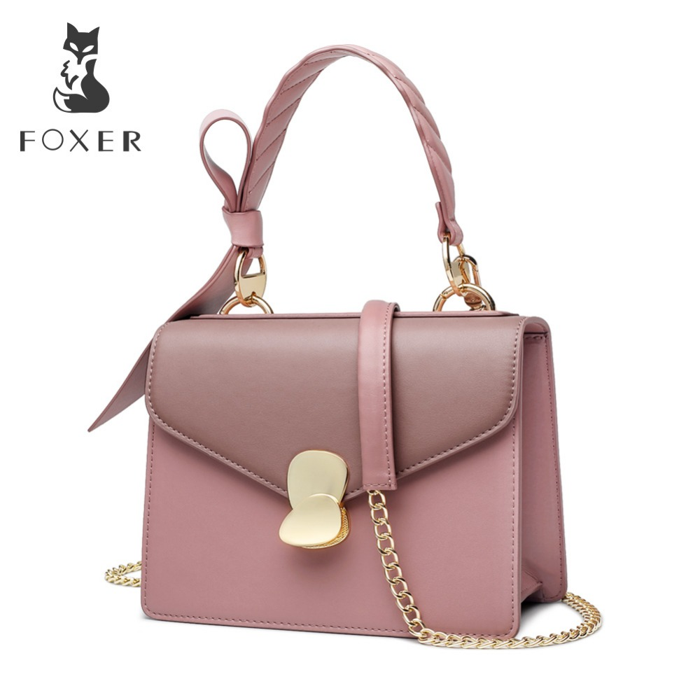 FOXER Brand 2019 New Female Korean Style Leather Shoulder Bags Women Stylish Elegant Messenger Bags Valentines Day presentFOXER Brand 2019 New Female Korean Style Leather Shoulder Bags Women Stylish Elegant Messenger Bags Valentines Day present