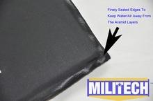 "Bulletproof Aramid Ballistic Panel Bullet Proof Plate Inserts Body Armor Soft Side Armour Panel NIJ Level IIIA 3A 6"" x 6"" Pair"