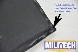 "Image 4 - MILITECH Ballistic Panel BulletProof Plate NIJ Level 3A & NIJ 0101.07 Level HG2 6"" x 6"" Pair Aramid Soft Side Insert Body Armor"