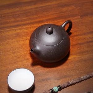 Image 3 - 170ML Yixing Teekanne Lila Ton Xishi Schönheit Kung Fu Wasserkocher Senden Geschenk Box Anzug Puer Tiguanyin