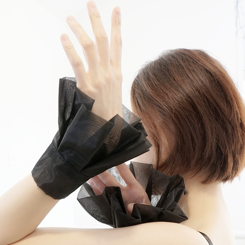 Fashion Lady Accessories Apparel Warmers Women Fake Original Handmade False Cuff Pure Dream Black White Eugen Yarn Fake Cuffs