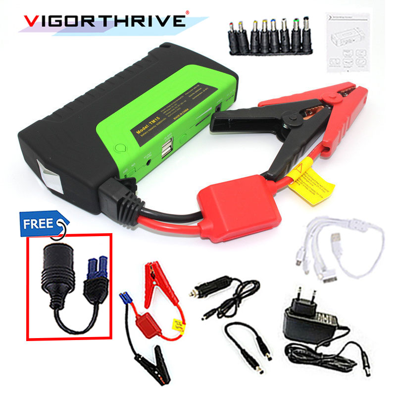 Car power bank Charger 12 V car jump starter High power Multi-function Portable Rechargeable Car Battery Jump Starter Booster 12v 15000mah multi function car jump starter battery charger power bank booster