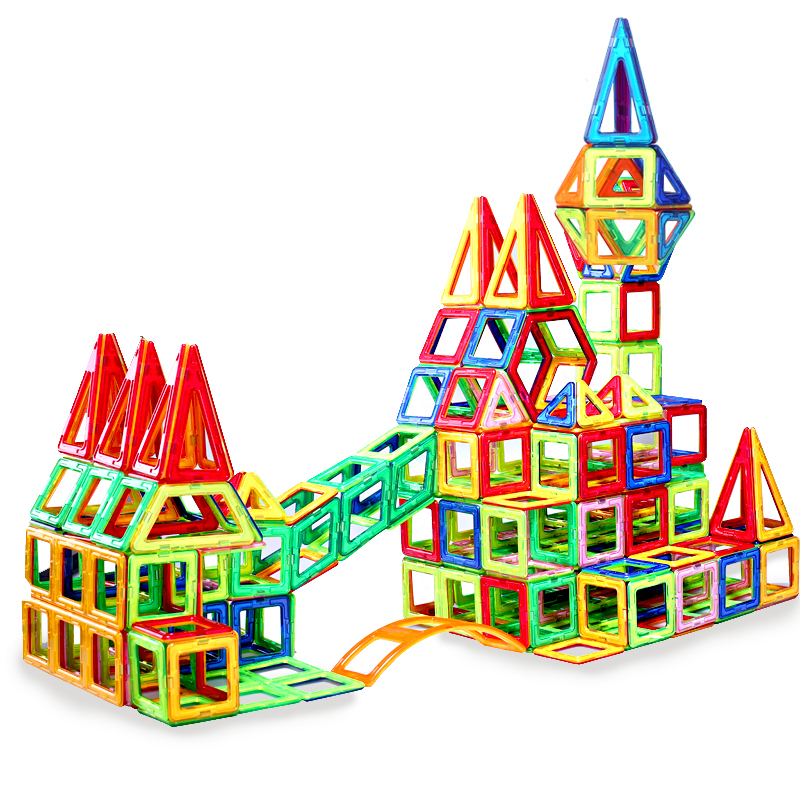 199PCS Big Size Magnetic Designer Building Blocks Model & Building Toys Brick Enlighten Bricks Magnetic Toys for Children kazi city rescue model ambulance corps bricks brinquedos intelligence develop toys for children 6 ages 199pcs 85010