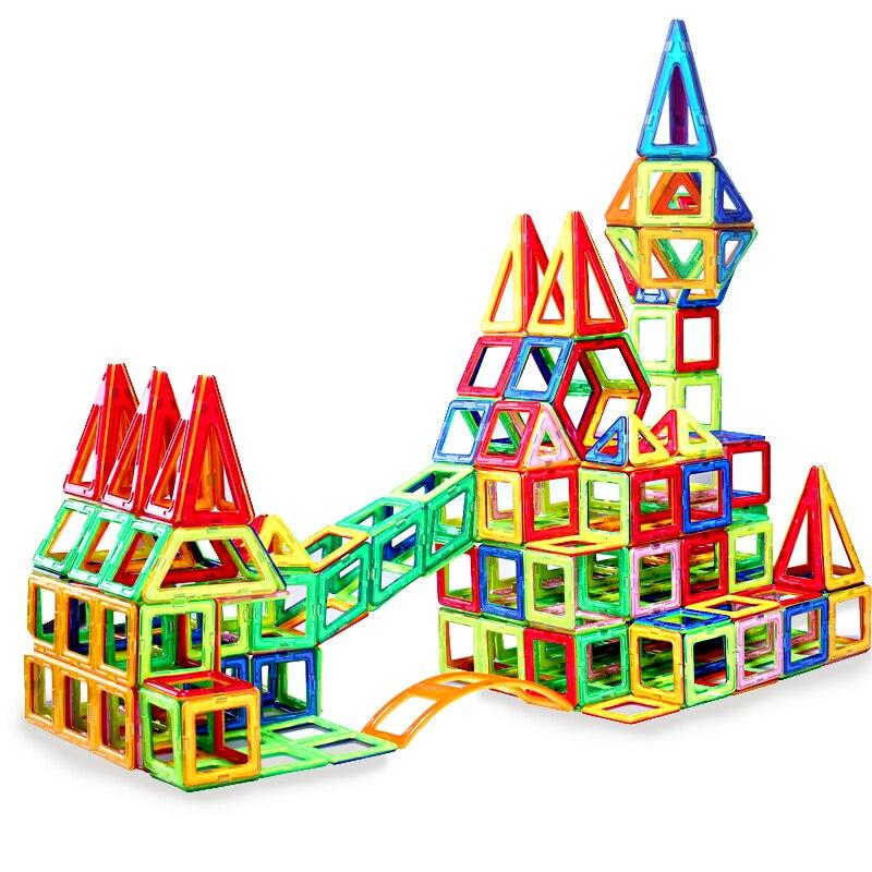 199PCS Big Size Magnetic Designer Building Blocks Model Building font b Toys b font Brick Enlighten