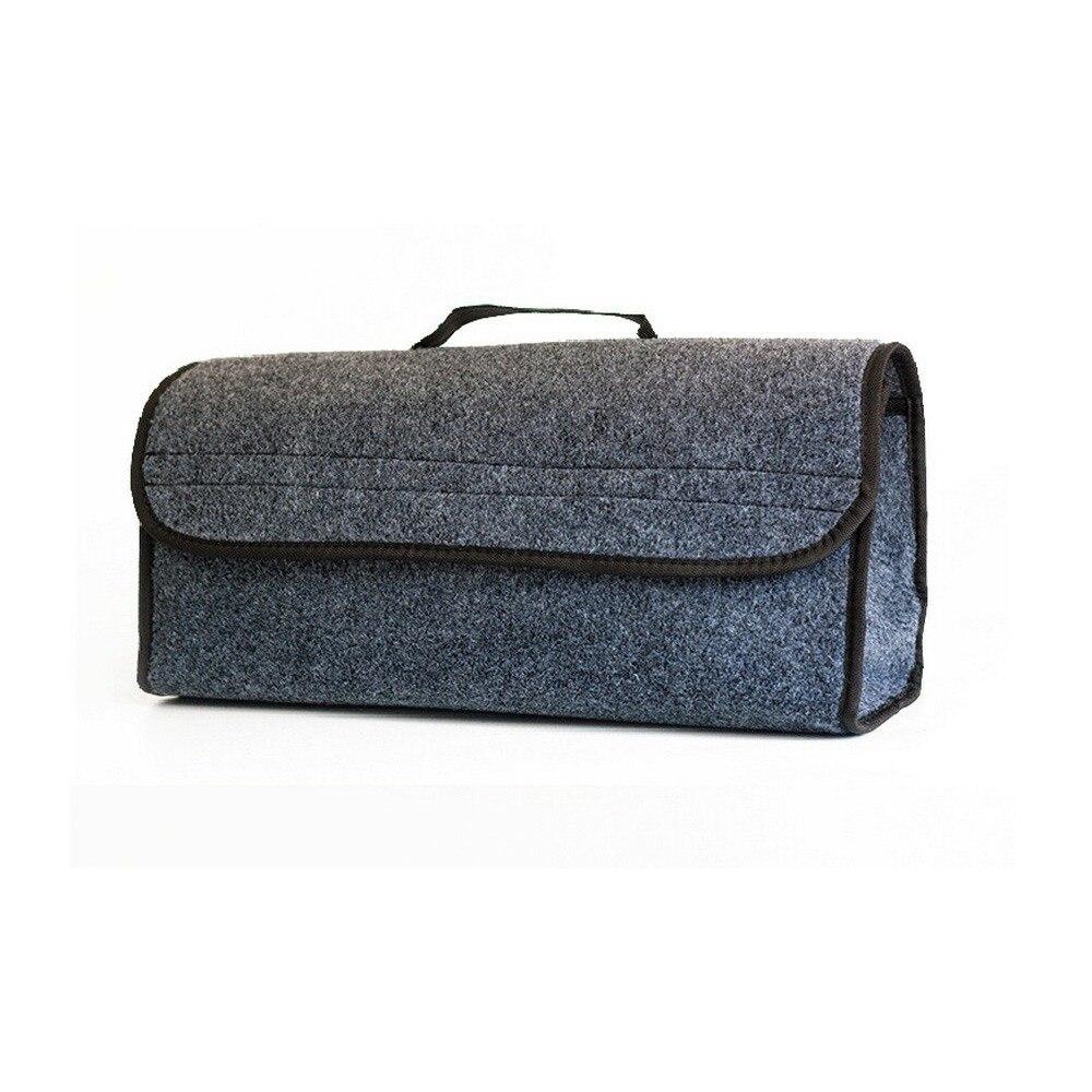 Haute qualité voiture feutre tissu pliant sac de rangement réglable Portable voiture coffre organisateur polyvalent stockage effondrement sac