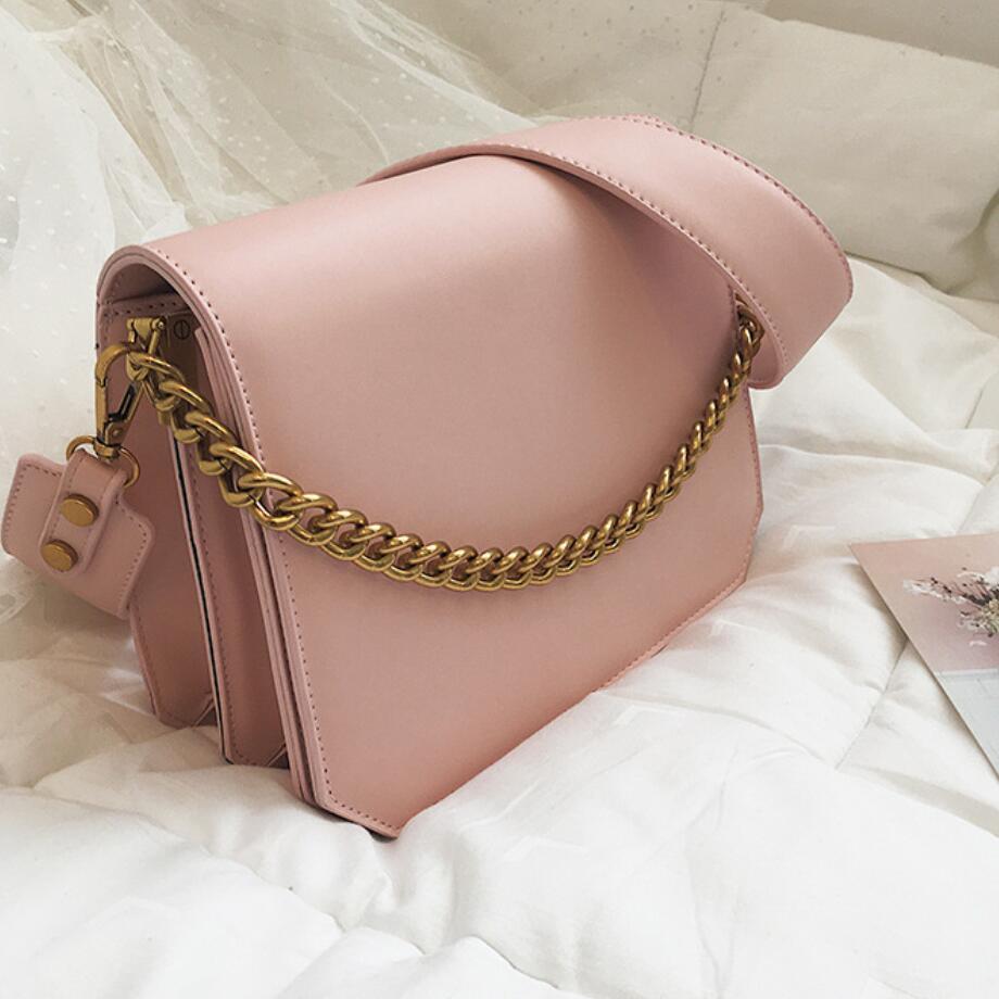 Elegant Female Flap Square Bag 2019 Summer New Quality PU Leather Women's Designer Handbag Chain Tote Bag Shoulder Messenger Bag