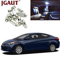 JGAUT For 2011 2015 Hyundai Elantra White Car LED Light Bulbs Interior Package Kit Map Dome