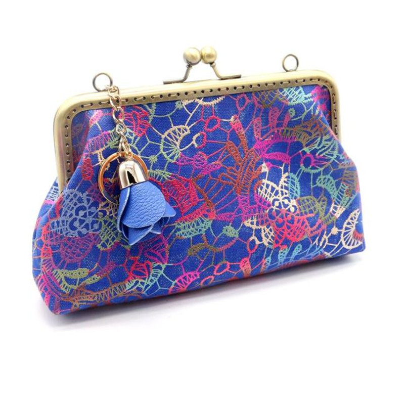2017 Most Popular Women Lady Retro Vintage Canvas Small Wallet Hasp Purse Clutch Bag Female Fashion Coin Bags Wholesale A8