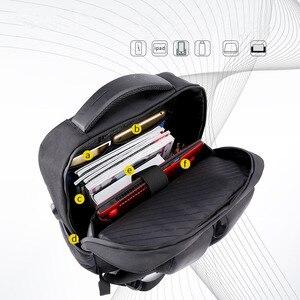 Image 2 - القطب الشمالي هنتر 15.6 بوصة المهنية مقاوم للماء الرجال محمول على ظهره USB حقيبة الرياضة دفتر غير رسمي حقيبة السفر للذكور 2019