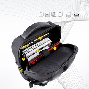 Image 2 - ARCTIC HUNTER 15.6 นิ้ว Professional กันน้ำแล็ปท็อปกระเป๋าเป้สะพายหลัง USB กระเป๋าเป้สะพายหลังกีฬา Casual โน้ตบุ๊คกระเป๋าเดินทางชาย 2019
