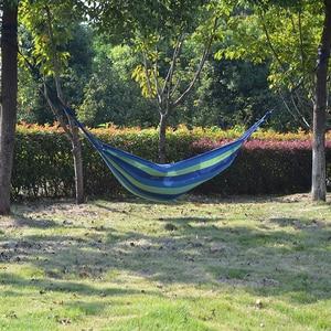 Image 2 - Подвесная кровать для кемпинга Acehmks, портативный садовый гамак для отдыха на открытом воздухе, с веревками для деревьев, 200 Х80 см