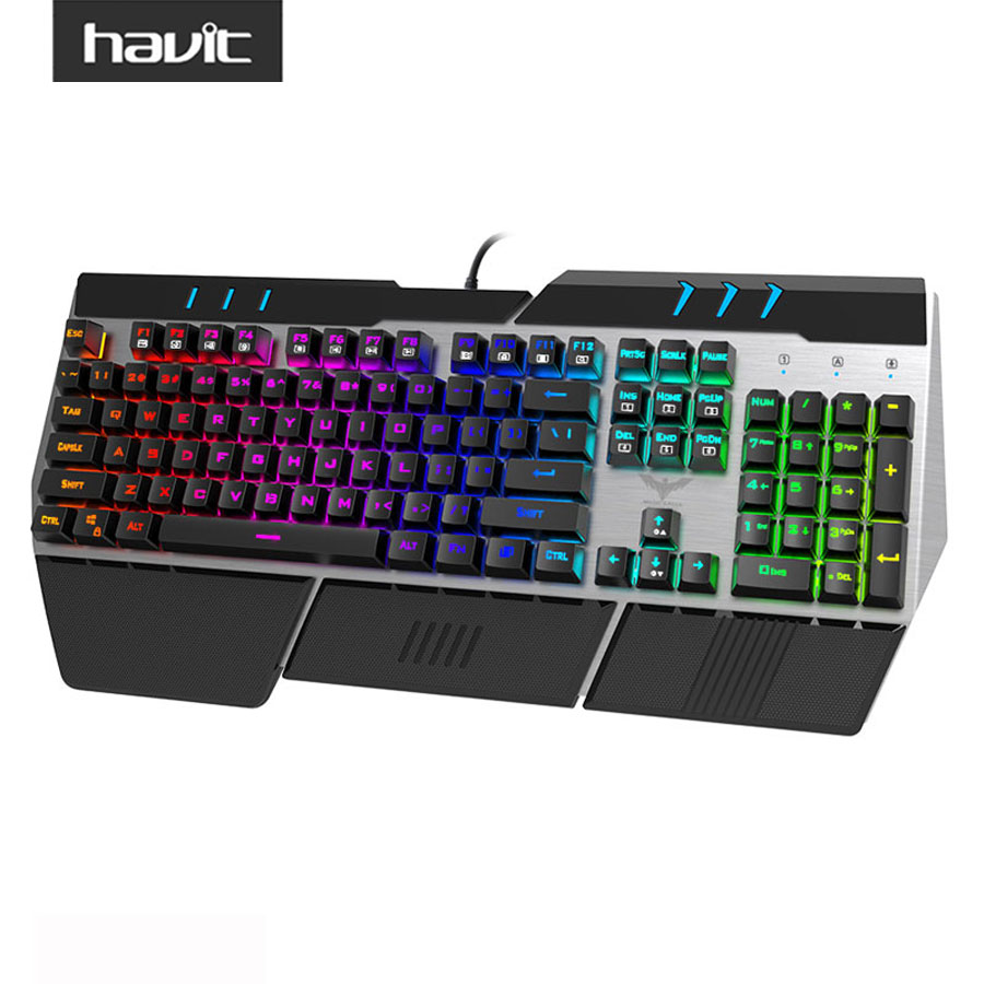 havit hv kb378l rgb backlit wired mechanical gaming keyboard us layout with blue switches for. Black Bedroom Furniture Sets. Home Design Ideas