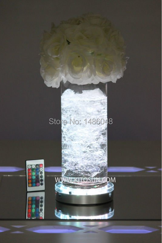 20pcs Brightness/adjustable Speed 3AA Batteries 16 Colors Remote Control Led Light Base For Liquor Bottles Wedding Centerpieces