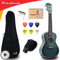 Ukelele de concierto de 23 pulgadas Mini Guitarra Eléctrica Ukelele de caoba con bolsa Capo Correa púas regalo Hawaii guitarra UKU UK2329A