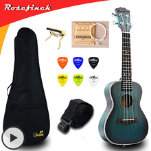 цена на 23 inch Concert Ukulele Electric Mini Guitar Mahogany Ukelele with Bag Capo String Strap Picks Gift Hawaii Guitar UKU UK2329A