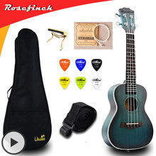 23 inch Concert Ukulele Electric Mini Guitar Mahogany Ukelele with Bag Capo String Strap Picks Gift Hawaii Guitar UKU UK2329A(China)