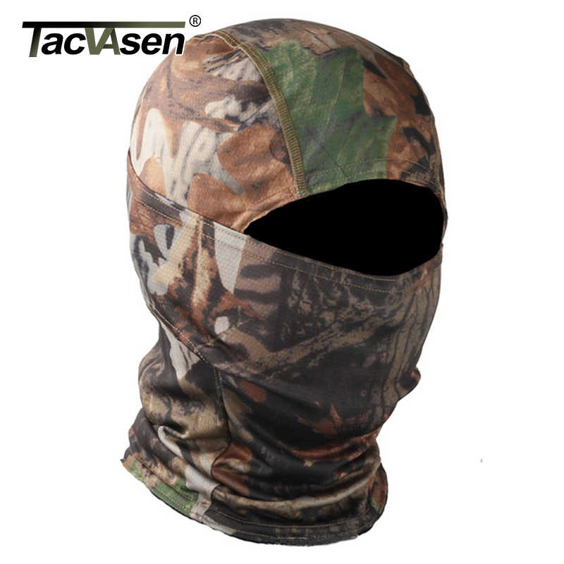 TACVASEN tactique Camouflage cagoule masque intégral Wargame chasse tirer armée vélo militaire casque Liner Combat Airsoft engrenages