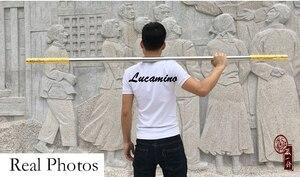 Image 2 - Arme du roi des singes en acier inoxydable, sculpture du dragon doré, Cudgel, Sun WuKong, voyage dans louest, pratique de performance