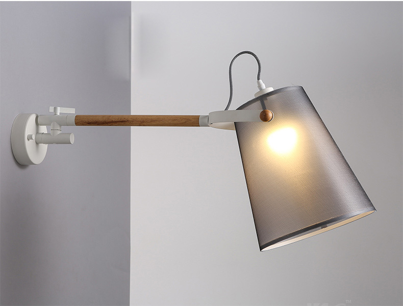 Contracted nordic style wall lights personality wooden wall lamp contracted nordic style wall lights personality wooden wall lamp modern creative decoration led wall light in led indoor wall lamps from lights lighting aloadofball Image collections