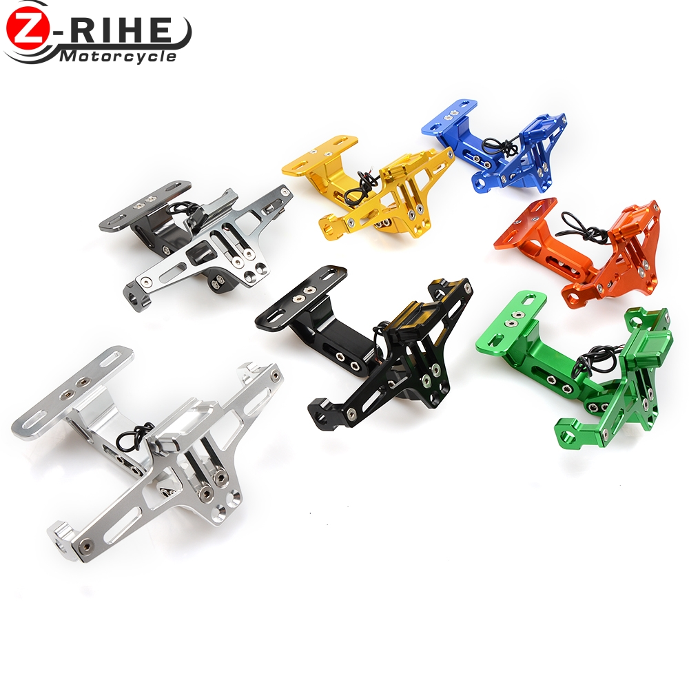 motorcycle accessories Universal Fender Eliminator License Plate Bracket Ho Tidy Tail For KTM 690 Enduro R 690 SMC 390 200 125 D for suzuki gsxr1000 2007 2008 motorcycle licence plate bracket tail tidy rear fender eliminator billet aluminum