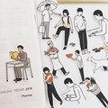 36-50 шт японский милый мультфильм комикс иллюстрация Декор стикер для канцелярских товаров Diy планировщик дневник в стиле Скрапбукинг Этике...