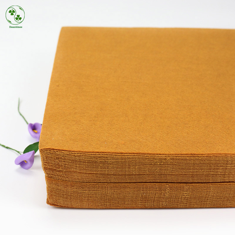 Golden Brown Felt Fabric Pure Color Felts Sheet 30X30CM Handmade Sewing Craft / Dolls Manual Work Accessories Non-woven Cloth