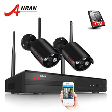 ANRAN 4CH CCTV System Wireless NVR Kit With P2P Cloud View 2PCS 960P HD IP Camera Home Security Surveillance System Wifi