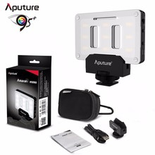 Aputure عمرام AL M9 جيب حجم قابلة للشحن LED فيديو ملء ضوء CRI TLCI 95 + CTO CTB هلام مرشح لل SLR كاميرا DV كاميرا