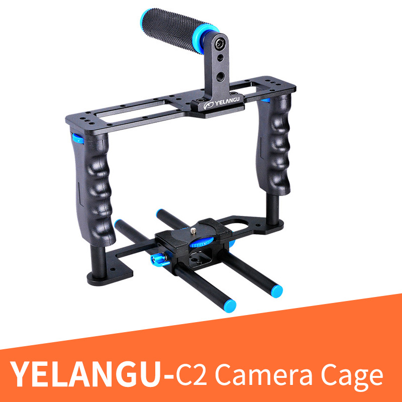 YELANGU C2 Aluminum Alloy Professional DSLR Camera Cage Kit With Top Hand Grip For Canon 5D mark II/5D Mark III