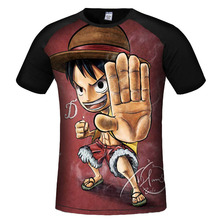 One Piece Luffy 3D Printed Dragon ball T Shirt