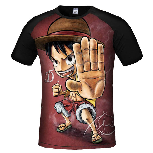 One Piece Anime Monley D Luffy Short Sleeves Men's T-shirt