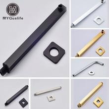 Мульти-стиль настенное крепление потолочное крепление душевая рукоятка держатель для душа латунная квадратная круглая душевая головка труба