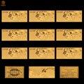 10 pçs/lote papel de moeda italiana 100000 lira conjunto world money replica collectible notas de ouro para bill
